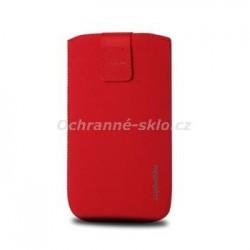 Univerzální pouzdro Redpoint Velvet, mikroplyš, červené, velikost XXL