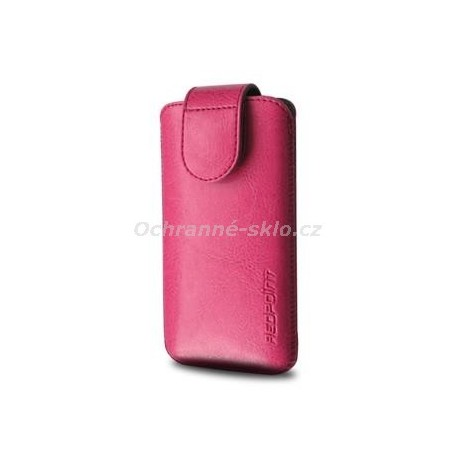 Pouzdro Redpoint Sarif se zavíráním, PU kůže, velikost M, růžové