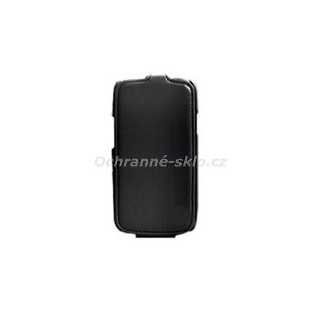 Kožené pouzdro flap CELLY Status pro Samsung Galaxy S4, černé + fólie na displej