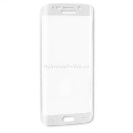 Ochranné tvrzené sklo Premium Glass na Samsung G925 Galaxy S6 EDGE  bílé