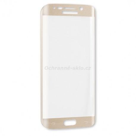 Ochranné tvrzené sklo Premium Glass na Samsung G928 Galaxy S6 EDGE+  zlaté