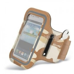 Sportovní neoprénové pouzdro CELLY, velikost XXL  pro Samsung Galaxy S4 a telefony podobných rozměrů, béžové