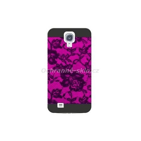 Zadní ochranný kryt CELLY Cover pro Samsung Galaxy S4, kolekce GLAMme, vínové