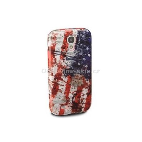 TPU pouzdro CellularLine Mundial pro Samsung Galaxy S4, vlajka USA