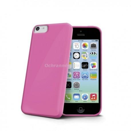 TPU pouzdro CELLY Gelskin pro Apple iPhone 5C, růžové