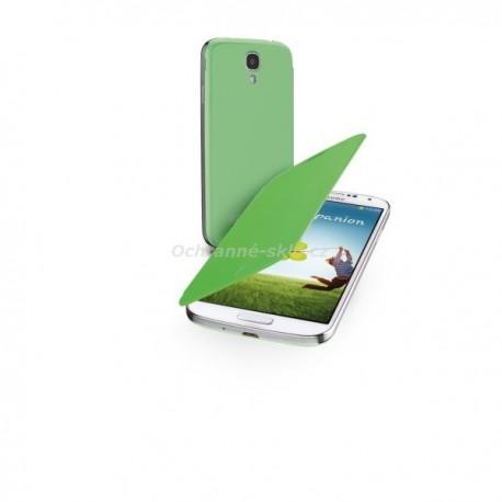 Pouzdro typu kniha CellularLine Backbook pro Samsung Galaxy S4, zelené