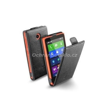 Pouzdro CellularLine Flap Essential pro Nokia X, PU kůže, černé