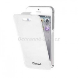Pouzdro flap MUVIT iFlip pro Apple iPhone 5C, bílé