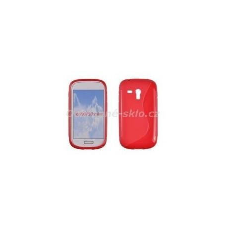 Pouzdro S-CASE SAMSUNG i8190 GALAXY S3 Mini, červené