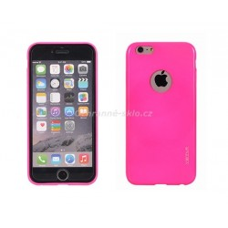 Silikonové pouzdro Jelly Ultra Slim pro iPhone 5, růžová fluorescent