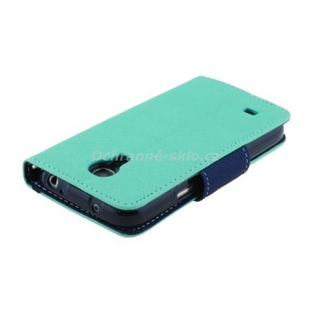 Pouzdro Fancy Case Samsung I9190 / Galaxy S4 Mini, mentolové