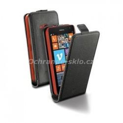Pouzdro CellularLine Flap Essential pro Nokia 625, PU kůže, černé